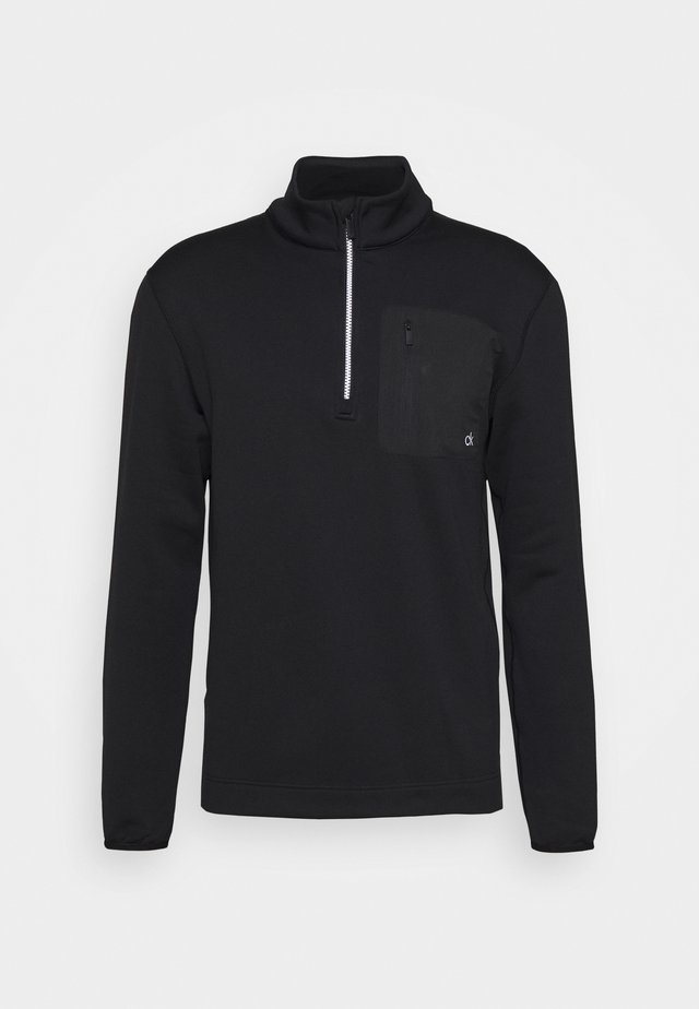 PINNACLE HALF ZIP - Bluza z polaru - black