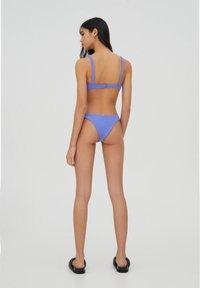 PULL&BEAR - Bikini top - mottled dark purple - 2