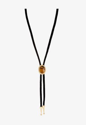 TIGERSEYE WESTERN BOLO - Necklace - black