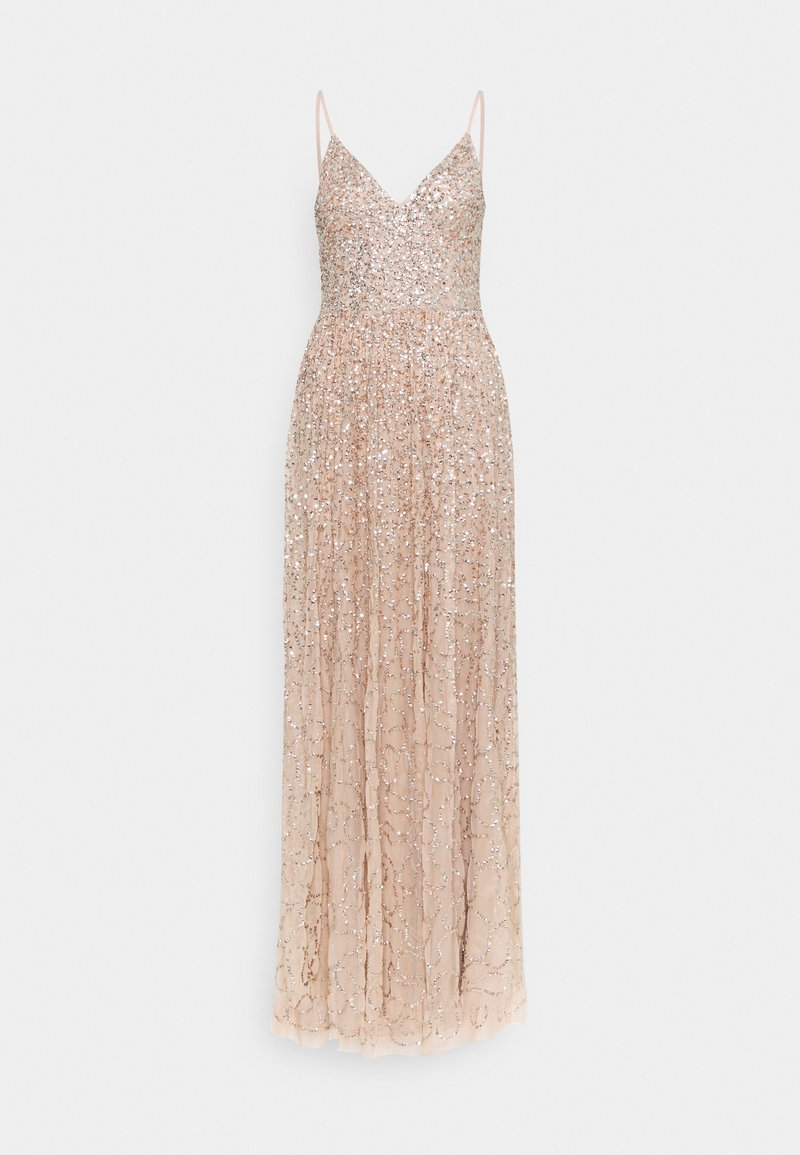 Maya Deluxe - ALL OVER SEQUIN DRESS - Galajurk - taupe blush