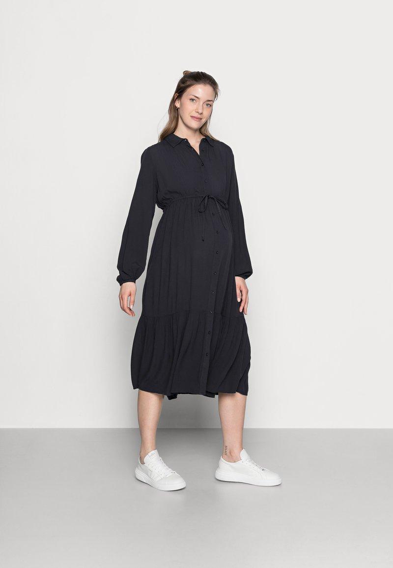 MAMALICIOUS - MLFAUNA DRESS - Košilové šaty - dark navy