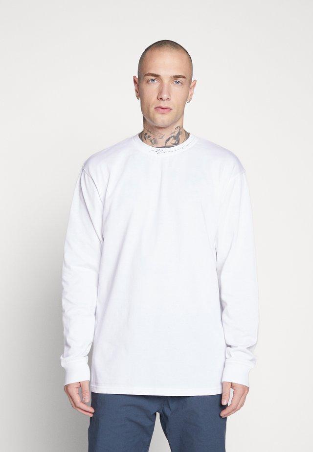 ESSENTIAL SIGNATURE HIGH NECK - T-shirt à manches longues - white