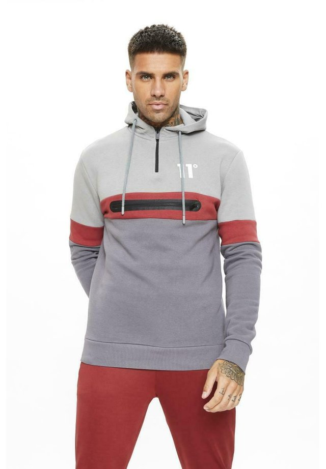 Jersey con capucha - grey/red