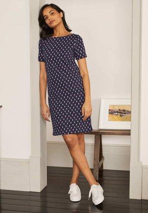DARCEY - Jersey dress - navy/kirschrot, paisleymuster