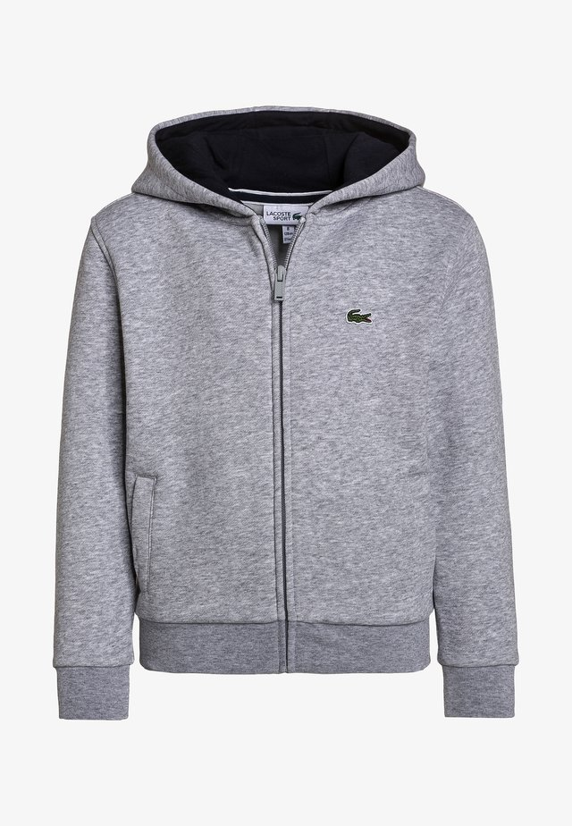 HOODED UNISEX - veste en sweat zippée - silver chine/navy blue