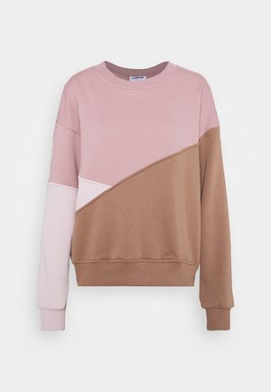 NMLIA COLOR BLOCK - Sweatshirt - woodrose/brownie
