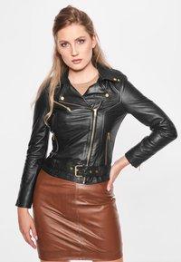 BTFCPH - EMMA - Leather jacket - black - 0