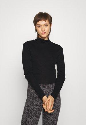 SARA CLASSIC TURTLE - Top sdlouhým rukávem - black