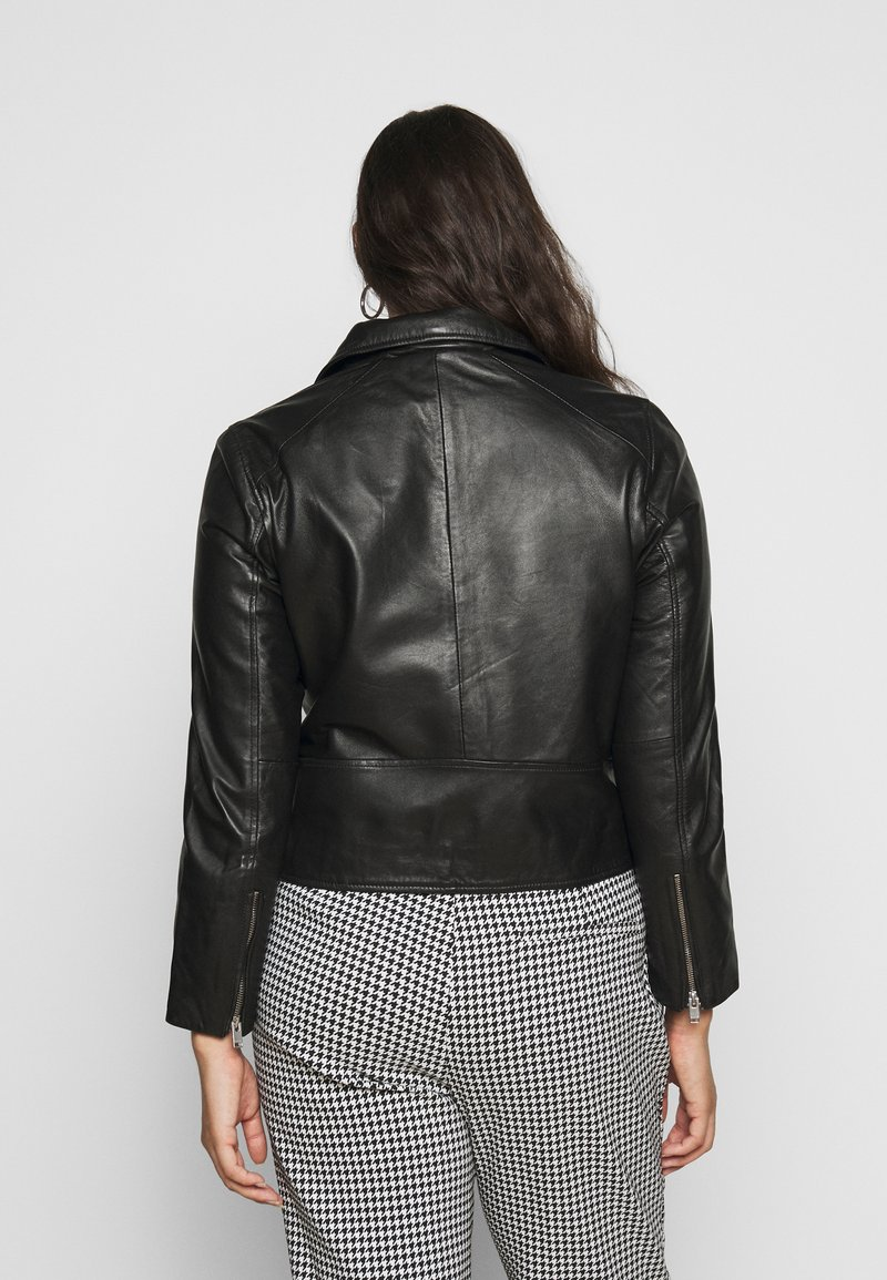 Selected Femme Curve - SLFKATTY  JACKET - Kožená bunda - black