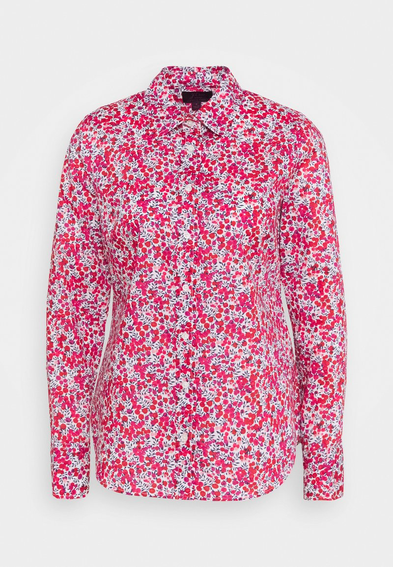 J.CREW - PERFECT LIBERTY WILTSHIRE - Blůza - berry multi
