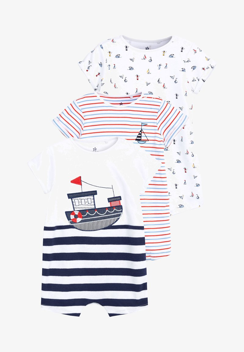 Next - NAVY 3 PACK NAUTICAL BOAT ROMPERS (0MTHS-3YRS) - Jumpsuit - blue