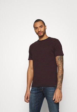EASY CREWNECK TEE - Camiseta estampada - dark blue
