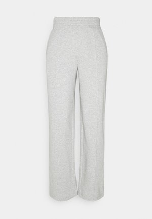 PCCHILLI WIDE PANTS - Tracksuit bottoms - light grey melange