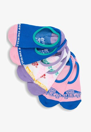 WM SKATEBOARD MIX CANOODLES (6.5-10, 3PK) - Socks - salmon, white, blue