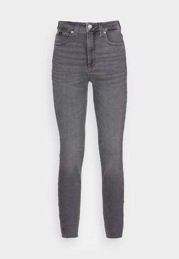 HIGH RISE SUPER SKINNY ANKLE - Jeans Skinny Fit - denim grey