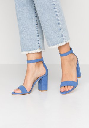 High heeled sandals - blue
