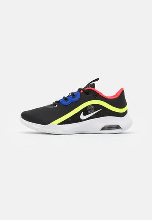 AIR MAX VOLLEY - Multicourt tennis shoes - black/white/volt/laser crimson
