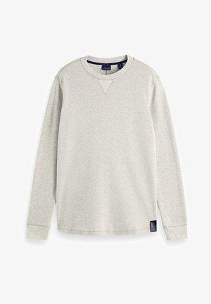 WAFFLE - Stickad tröja - grey melange