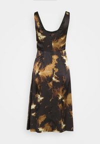 Alexa Chung - SLEEVELESS DAY DRESS - Vapaa-ajan mekko - black/ brown - 6