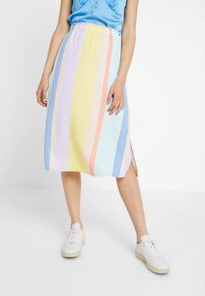 YASPASTELLA MIDI SKIRT - Pencil skirt - yellow cream/pastella print