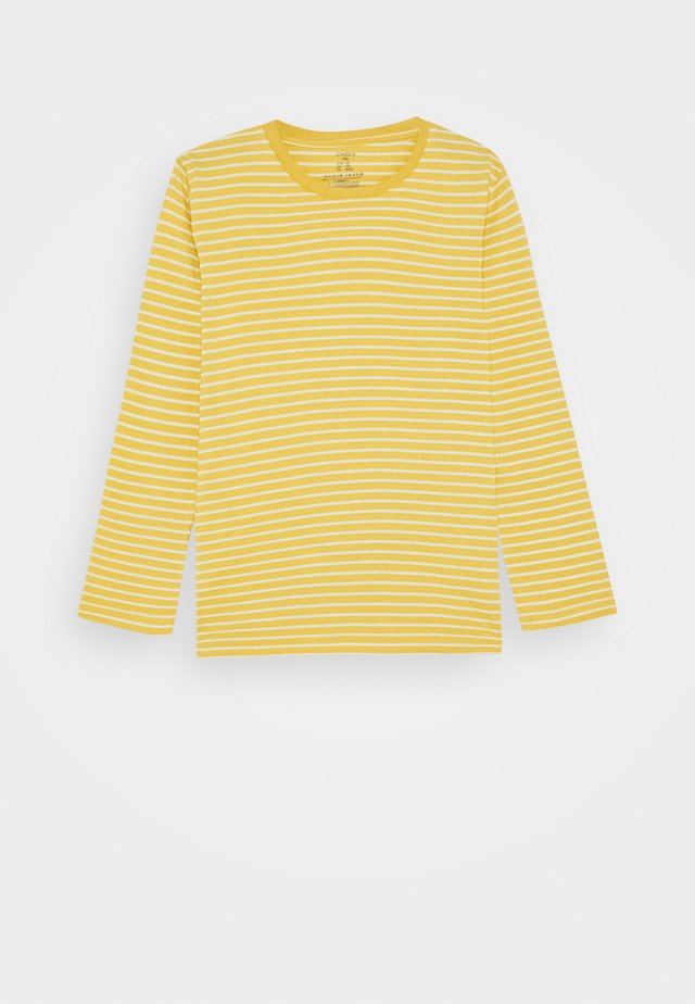 MINI BASIC STRIPE - Top sdlouhým rukávem - yellow