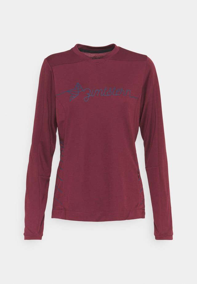 ECOFLOWZ  WOMENS - Top s dlouhým rukávem - windsor wine/french navy
