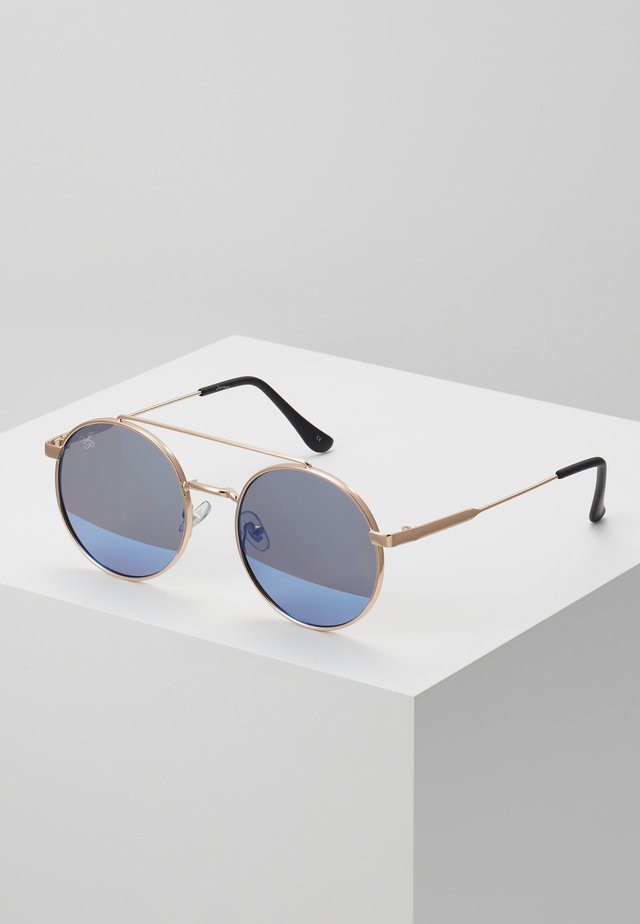 Sunglasses - gold-coloured/blue flash lens