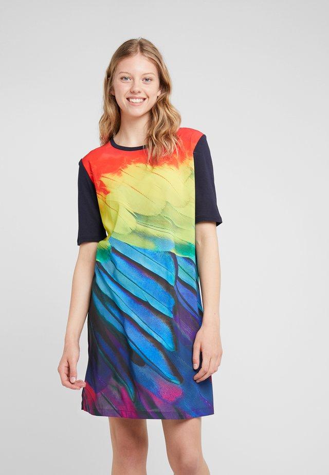 Sukienka z dżerseju - black/multicolor