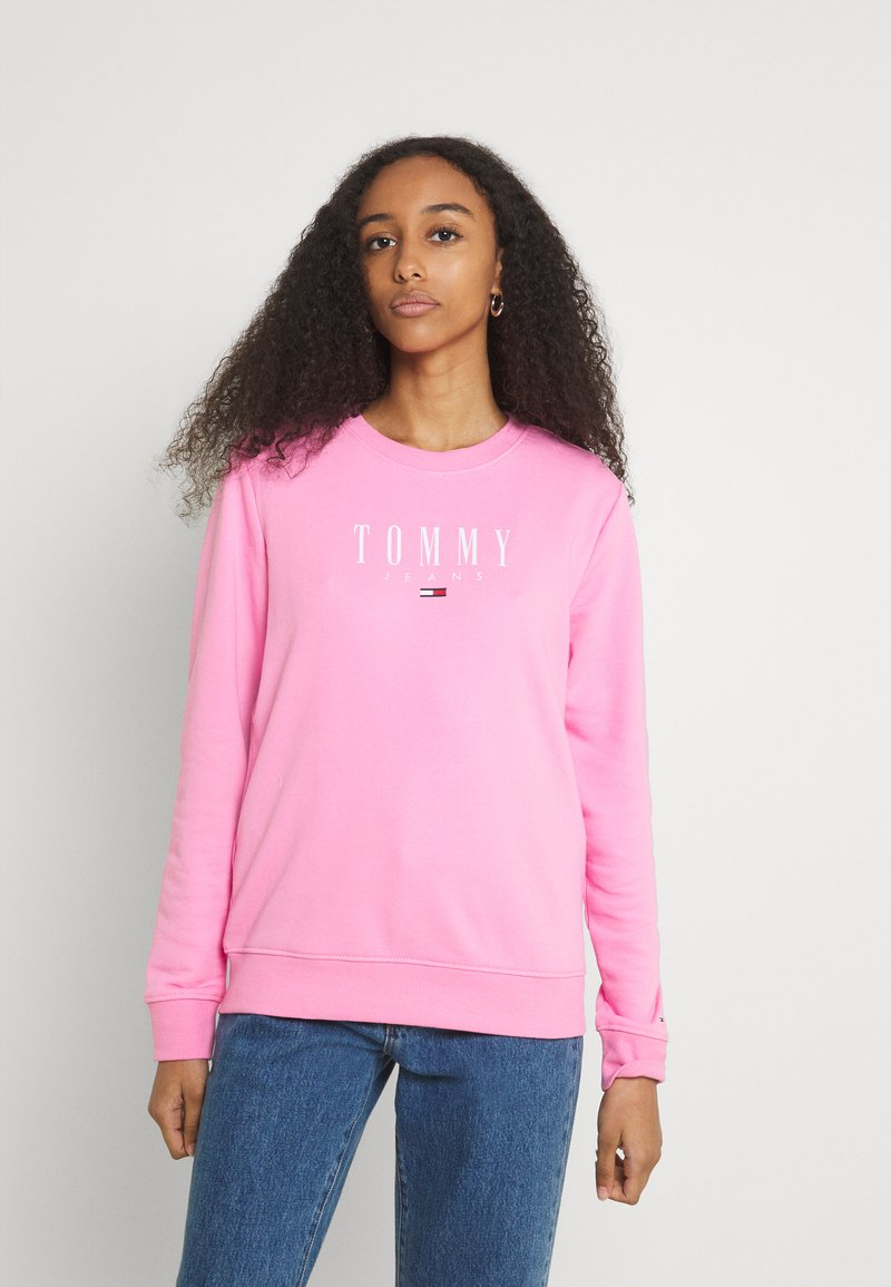 Tommy Jeans - REGULAR ESSENTIAL LOGO - Mikina - pink daisy