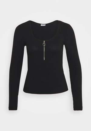 NMELINA - T-shirt à manches longues - black