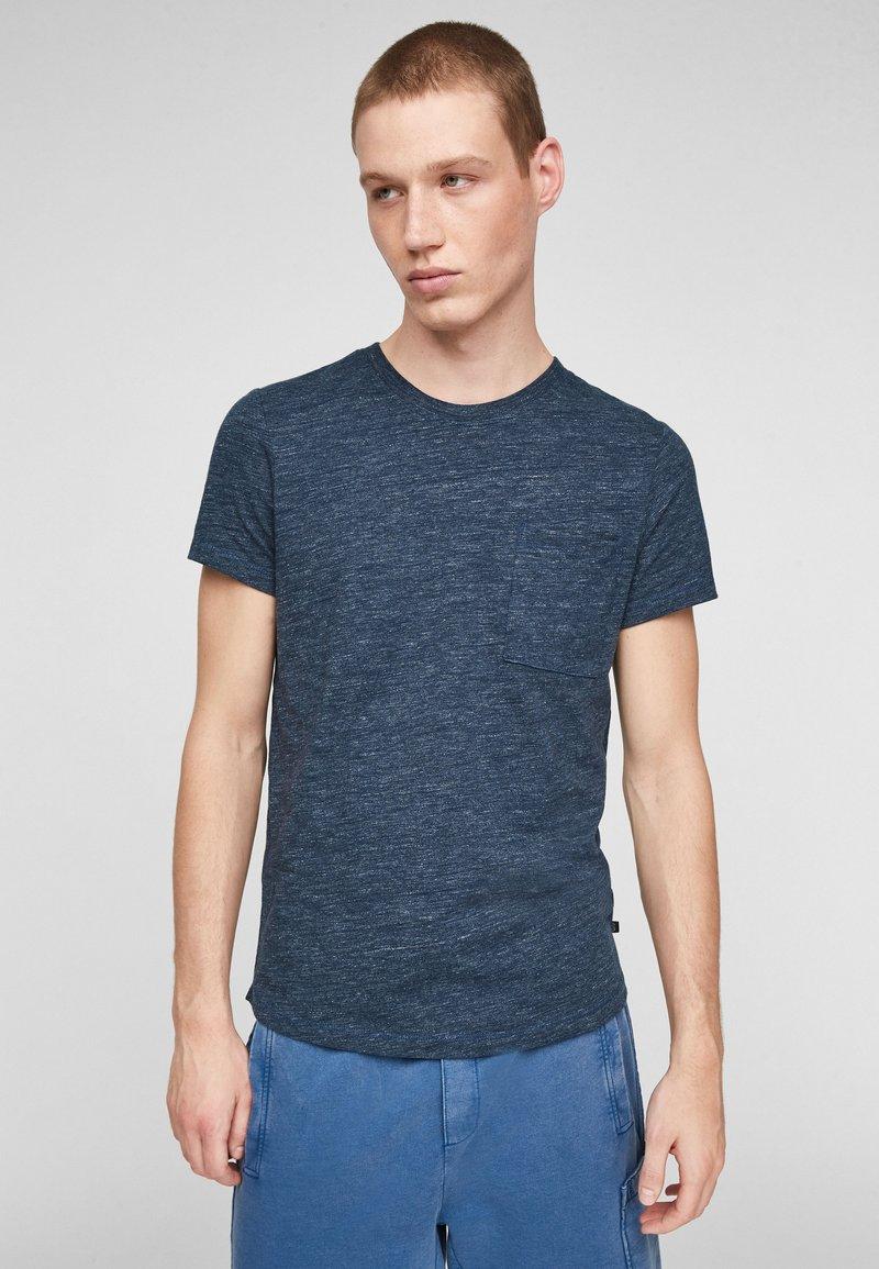 QS by s.Oliver - Basic T-shirt - blue melange