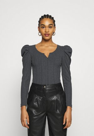 JDYANNA PUFF SLEEVE - Long sleeved top - dark grey melange