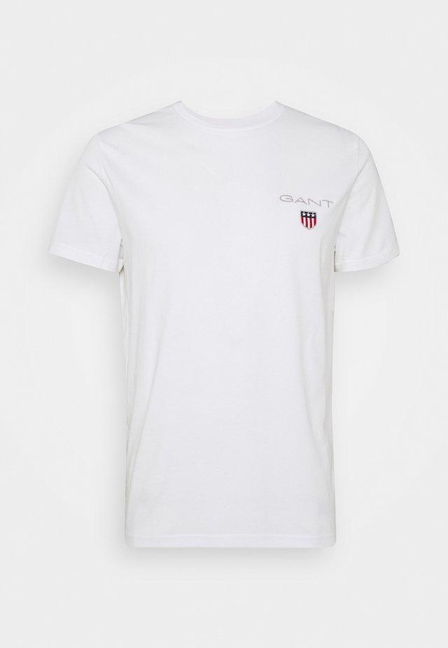 MEDIUM SHIELD - T-shirts basic - white