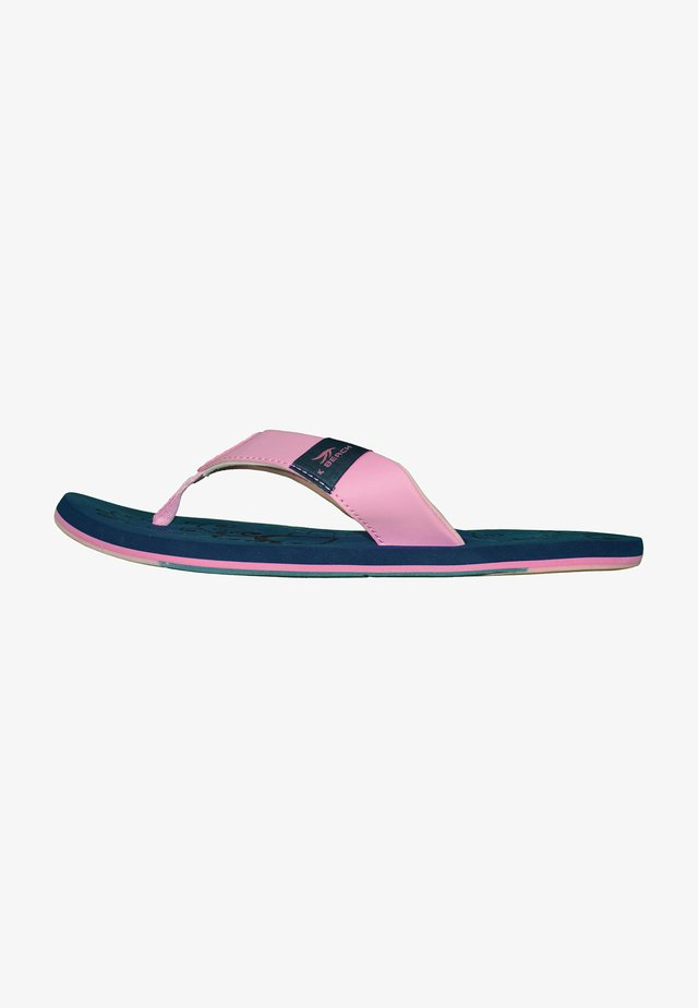 T-bar sandals - dunkelblau/rosa