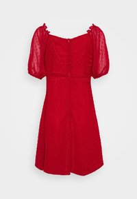 Missguided - MILKMAID SKATER DRESS DOBBY - Day dress - red - 1