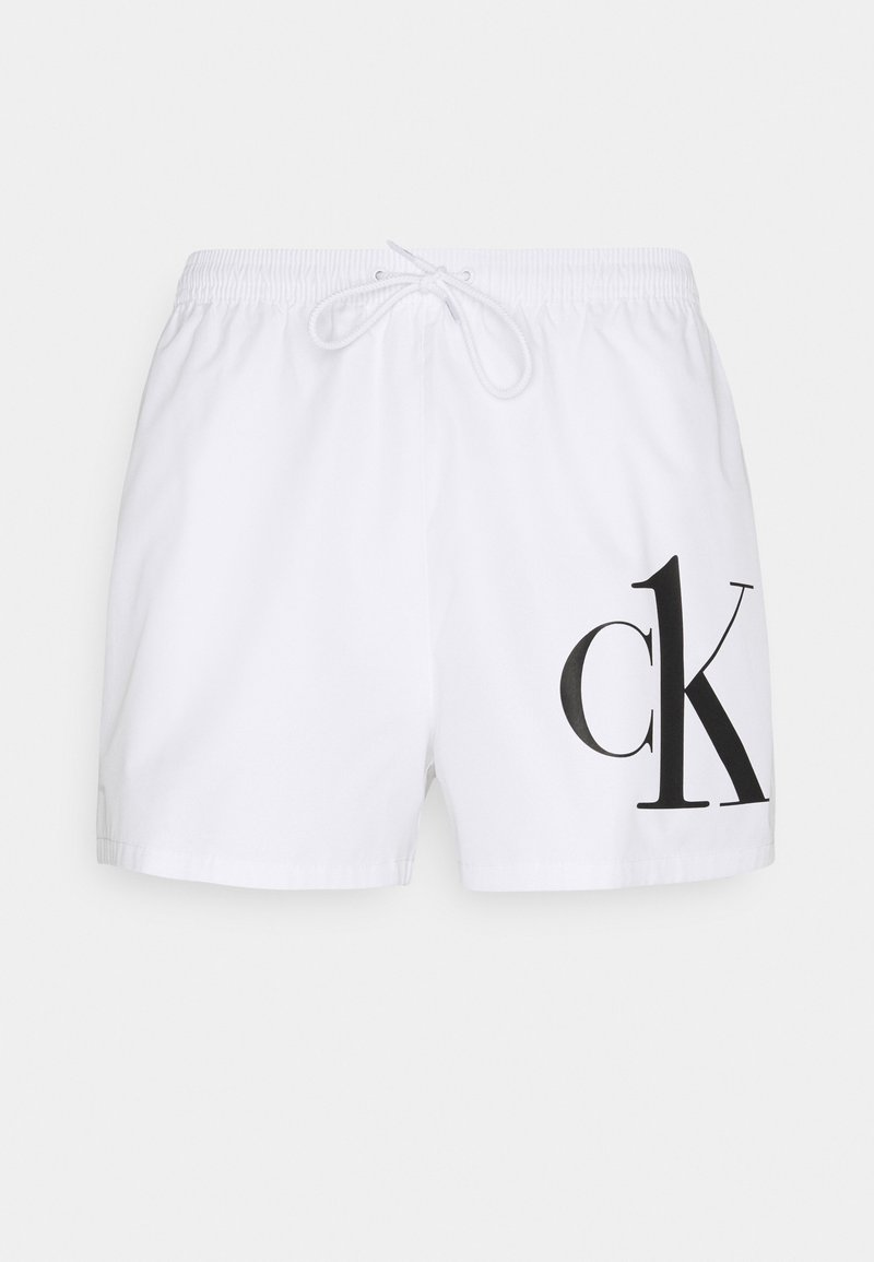 Calvin Klein Swimwear - ONE DRAWSTRING - Badeshorts - white