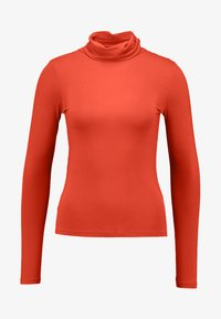 ROLL NECK - Long sleeved top - burnt orange