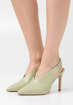 SEAM DETAILED SLINGBACK  - Szpilki - lime