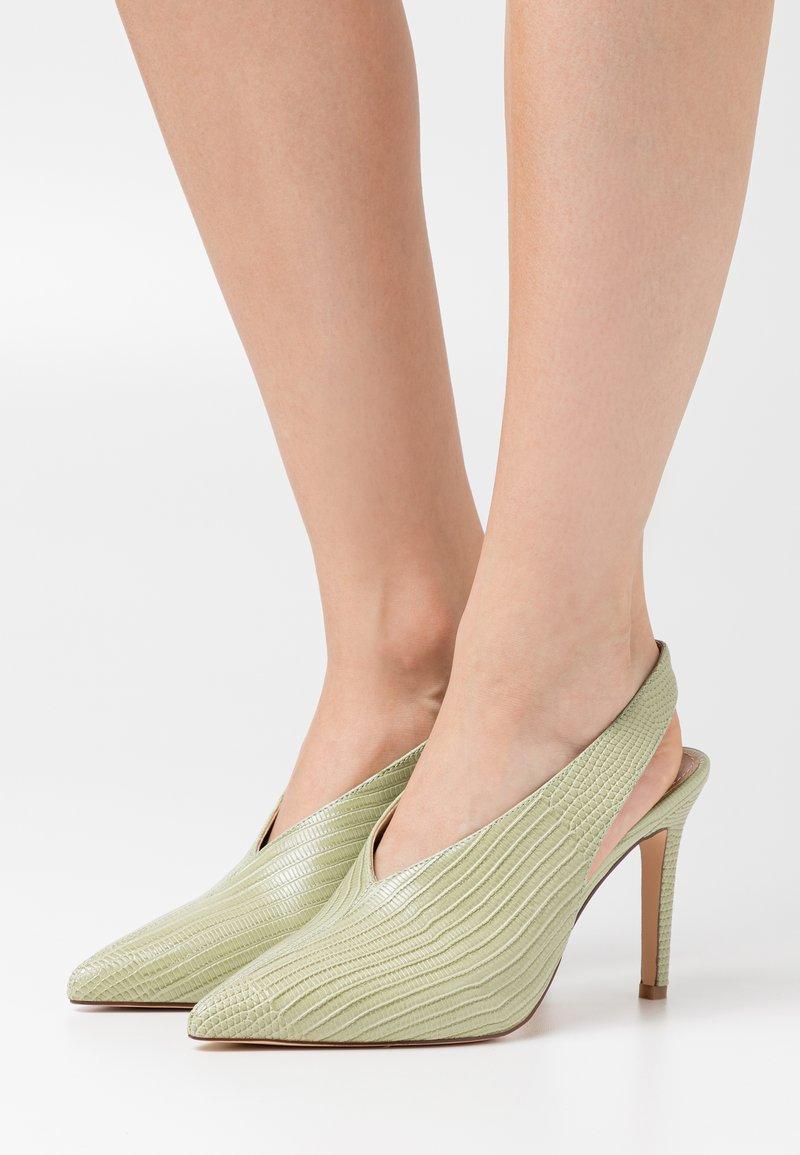 NA-KD - SEAM DETAILED SLINGBACK  - High heels - lime