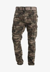 TRRANGER - Cargo trousers - camo khaki