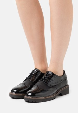 LACE UP - Veterschoenen - black