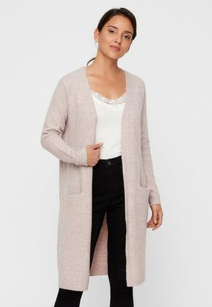 VMDOFFY LONG OPEN CARDIGAN - Cardigan - woodrose