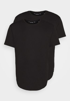 ONSMATT LONGY TEE 2 PACK  - Basic T-shirt - black