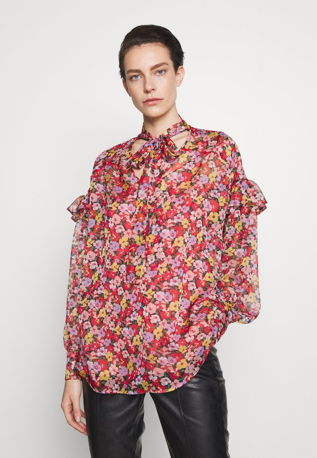 BLUSA CON TOP - Blouse - multi coloured