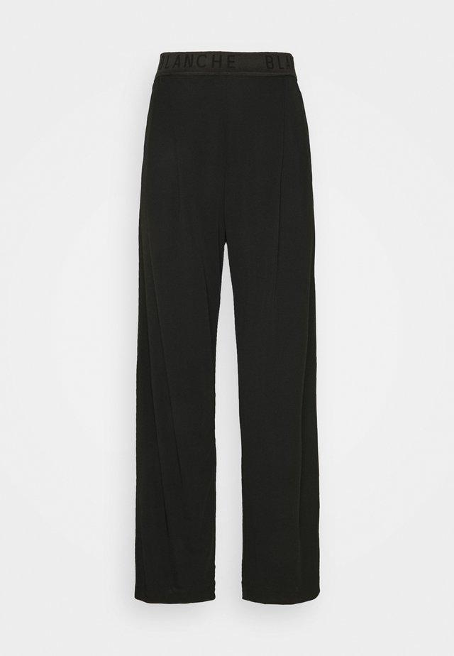 CARISI PANTS - Spodnie materiałowe - black