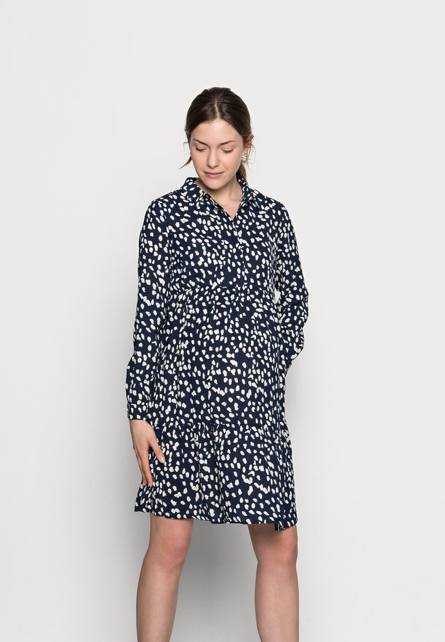 MLGLOMMA SHIRT DRESS - Shirt dress - navy blazer/snow white