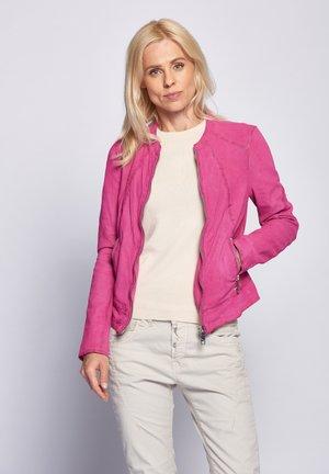 Leren jas - pink