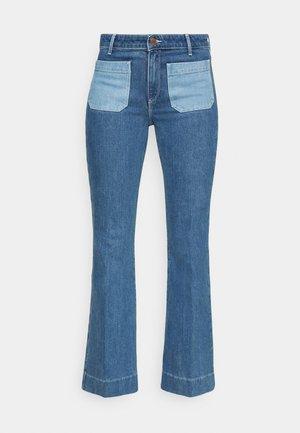 Široké džíny - light blue denim