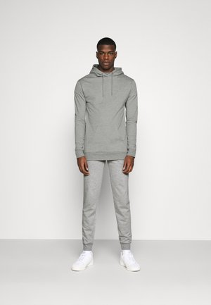 CORE LOUNGE SET - Sweat à capuche - grey marl