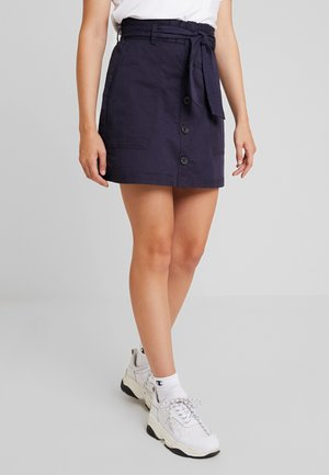 BELTED UTILITY - A-line skirt - navy